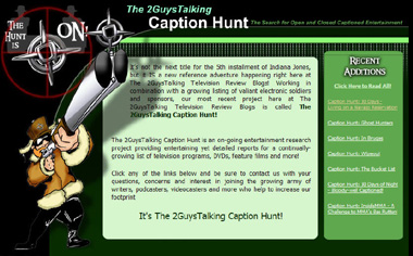 Click Here to Learn More About The 2GuysTalking Caption Hunt Program!